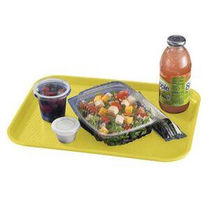 """Cambro """"Cambro 1216FF108 Plastic Fast Food Tray - 16 1/10"""""""" L x 11 4/5""""""""W, Primrose Yellow"""""""