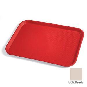 """Cambro """"Cambro 1418FF106 Plastic Fast Food Tray - 17 3/4""""""""L x 13 4/5""""""""W, Light Peach"""""""