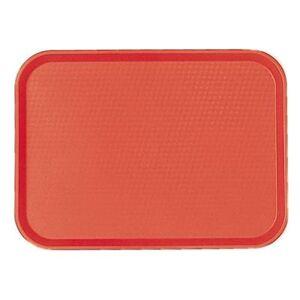 """Cambro """"Cambro 1418FF163 Plastic Fast Food Tray - 17 3/4""""""""L x 13 4/5""""""""W, Red"""""""