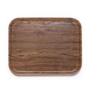"""Cambro """"Cambro 1116304 Fiberglass Camtray? Cafeteria Tray Insert - 15 4/5""""""""L x 10 4/5""""""""W, Country Oak"""""""