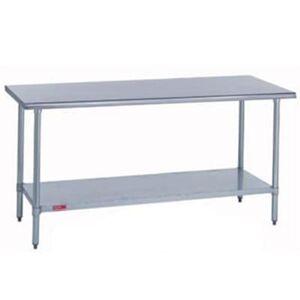 "Duke ""Duke 316S-2424 24"""" 16 ga Work Table w/ Undershelf & 300 Series Stainless Flat Top"""