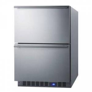 "Summit ""Summit FF642D 23 5/8"""" W Undercounter Refrigerator w/ (1) Section & (2) Drawers, 115v"""