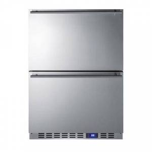 """Accucold """"Accucold SPR627OS2D 24"""""""" W Undercounter Refrigerator w/ (1) Section & (2) Drawers, 115v"""""""
