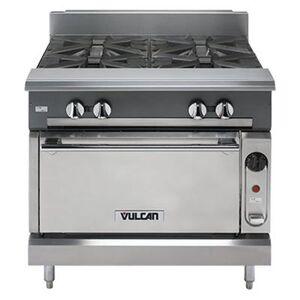 """Vulcan """"Vulcan V336HS 36"""""""" Gas Range w/ (3) Hot Tops & Standard Oven, Liquid Propane"""""""