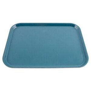 """Cambro """"Cambro 1216FF168 Plastic Fast Food Tray - 16 1/10"""""""" L x 11 4/5""""""""W, Blue"""""""