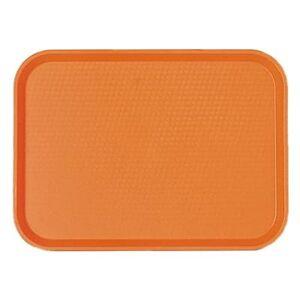 """Cambro """"Cambro 1418FF166 Plastic Fast Food Tray - 17 3/4""""""""L x 13 4/5""""""""W, Orange"""""""