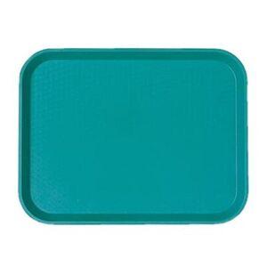 "Cambro ""Cambro 1418FF414 Plastic Fast Food Tray - 17 3/4""""L x 13 4/5""""W, Teal"""