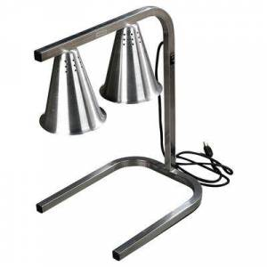 Carlisle HL723700 2 Bulb Heat Lamp w/ Adjustable Arm, Aluminum, 120v