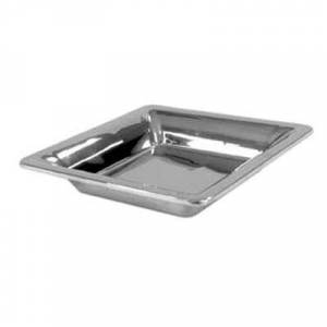 """Bon Chef """"Bon Chef 9322 12"""""""" Square Cold Wave Platter - Double Wall, Stainless"""""""