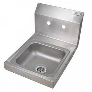 "John Boos ""John Boos PBHS-W-0909 Wall Mount Commercial Hand Sink w/ 9""""L x 9""""W x 5""""D Bowl, Basket Drain"""