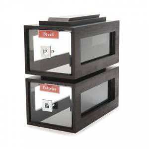 Rosseto BD111 Block Frame Bakery Drawer - Black Bamboo Frame