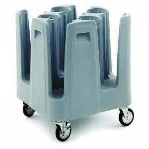"""Metro PCD7 27 13/16"""""""" Mobile Dish Caddy w/ (9) Columns - Polymer, Aesthetic Blue"""""""