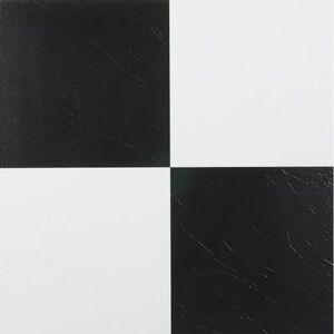"Achim Home Dcor ""Nexus 12"""" x 12"""" Self Adhesive Vinyl Floor Tile by Achim Home Dcor in Black White"""