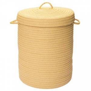 Colonial Mills Solid Texture Hamper with Lid by Colonial Mills in Yellow (Size 16X16X20)
