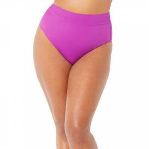 Swimsuits For All Plus Size Women's High Waist Bikini Bottom by Swimsuits For All in Beach Rose Palm (Size 6)