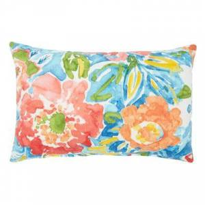"""BrylaneHome """"20"""""""" x 13"""""""" Lumbar Pillow by BrylaneHome in Poppy Blue"""""""
