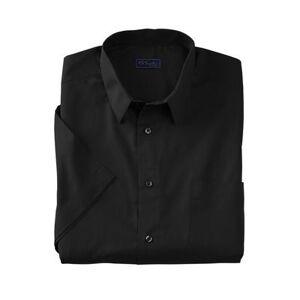 KS Signature Men's Big & Tall KS Signature No Hassle Short-Sleeve Dress Shirt by KS Signature in Black (Size 20)