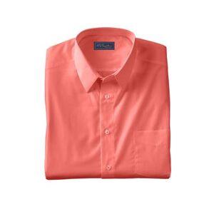 KS Signature Men's Big & Tall KS Signature No Hassle Long-Sleeve Dress Shirt by KS Signature in Dark Pink (Size 20 35/6)