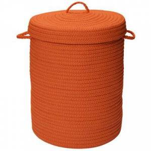 Colonial Mills Solid Texture Hamper with Lid by Colonial Mills in Orange (Size 16X16X20)