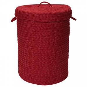 Colonial Mills Solid Texture Hamper with Lid by Colonial Mills in Red (Size 16X16X20)