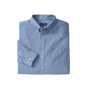 KS Signature Men's Big & Tall KS Signature Wrinkle-Resistant Oxford Dress Shirt by KS Signature in Royal Blue (Size 20 33/4)