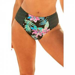 Swimsuits For All Plus Size Women's Scout High Waist Bikini Bottom by Swimsuits For All in Neon Tropical (Size 8)