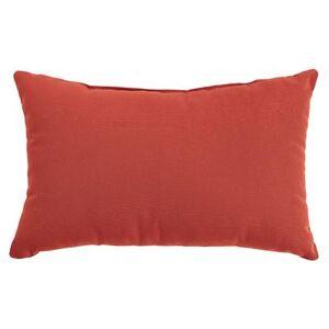 "BrylaneHome ""20"""" x 13"""" Lumbar Pillow by BrylaneHome in Geranium"""