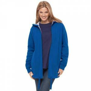 Woman Within Plus Size Women's Thermal Lined Fleece Hoodie by Woman Within in Bright Cobalt (Size 18/20)