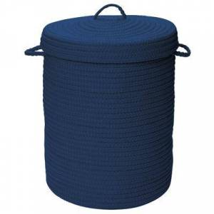 Colonial Mills Solid Texture Hamper with Lid by Colonial Mills in Blue (Size 16X16X20)