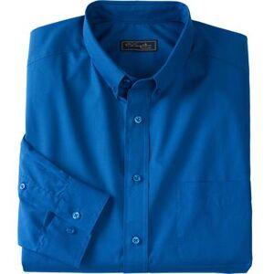 KS Signature Men's Big & Tall KS Signature No Hassle Long-Sleeve Button-Down Collar Dress Shirt by KS Signature in Royal Blue (Size 20 39/0)
