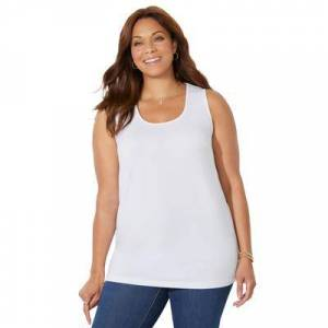 Catherines Plus Size Women's Timeless Tank by Catherines in White (Size 4X)