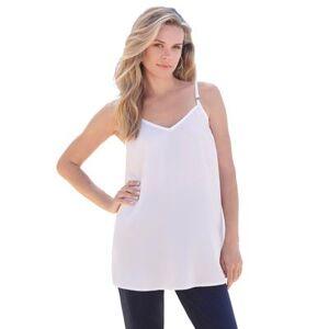 Roaman's Plus Size Women's V-Neck Cami by Roaman's in White (Size 14 W)