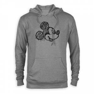 Disney Mickey Mouse Head Sketch Pullover Hoodie for Adults Customized - Official shopDisney