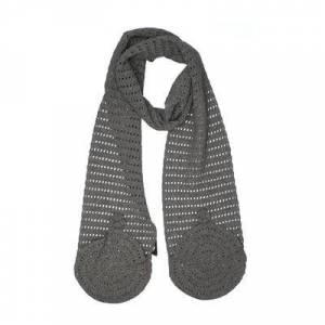 A.P.C. Scarf: Gray Solid Accessories