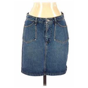 A.P.C. Denim Skirt: Blue Solid Bottoms - Size 36