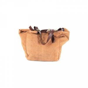 Vincent Cynthia Vincent Leather Hobo Bag: Brown Solid Bags