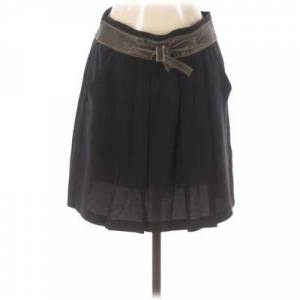 Vincent Twelfth Street by Cynthia Vincent Silk Skirt: Black Solid Bottoms - Size 6