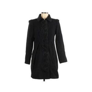 Tibi Wool Coat: Black Solid Jackets & Outerwear - Size 6