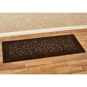 Mohawk Rug & Textiles Wellington Nylon Bath Rug Runner, 2' x 9', Dark Chocolate