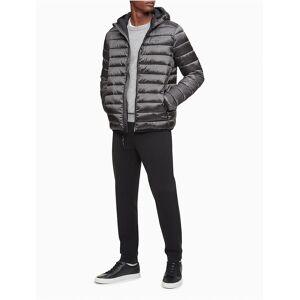 Calvin Klein Men's Packable Lightweight Full Zip Puffer Jacket - Grey - XXL