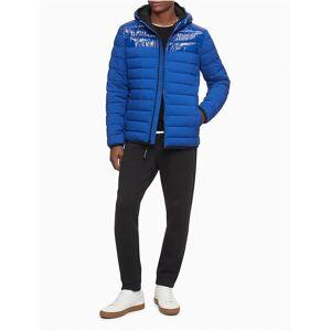 Calvin Klein Men's Packable Lightweight Full Zip Puffer Jacket - Blue - XXL