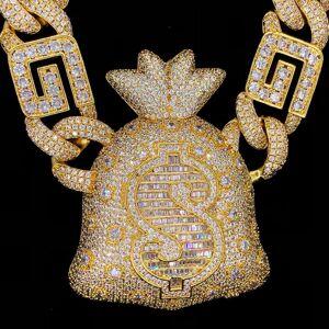 Moneybagg Yo Custom Limited Edition Name Money Bag Chain