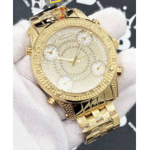 HipHopBling Gold 5 Time Zone .25 Carat Diamond Hip Hop Watch JoJino