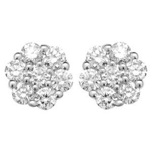 HipHopBling Cluster Diamond Earrings .45cttw 10K Yellow Gold