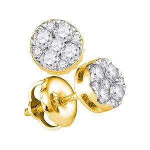 HipHopBling Circle Pave Diamond Earrings .25cttw 14K Yellow Gold