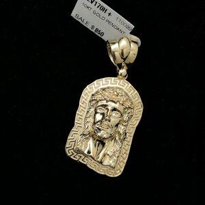 HipHopBling Jesus Greek Outline #1 10K Yellow Gold Pendant