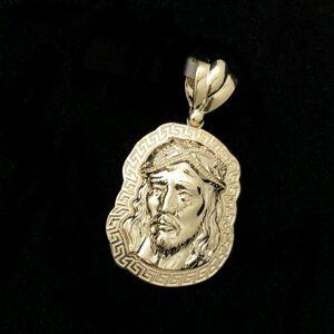 HipHopBling Jesus Greek Outline #2 10K Yellow Gold Pendant