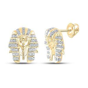 HipHopBling Pharaoh Diamond Earrings .20cttw 10K Yellow Gold
