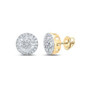 HipHopBling Baguette Radiant Cluster Diamond Earrings 10K Gold