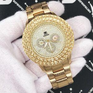 HipHopBling Gold 2 Row .50 Carat Diamond Hip Hop Watch